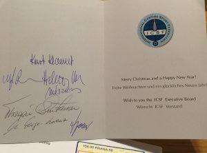 ICSFからクリスマスカードが届きました