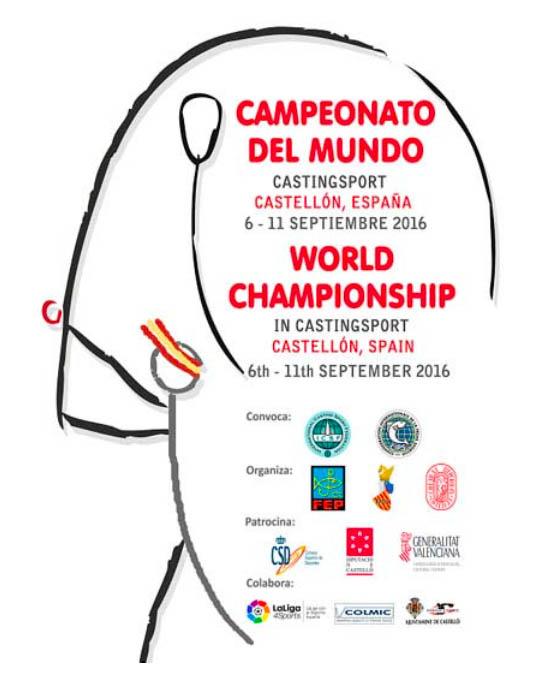 2016 ICSFキャスティングスポーツ世界選手権 in Castellon, Spain 開催案内